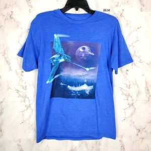 STAR WARS Blue Short Sleeve T-Shirt Luke Skywalker